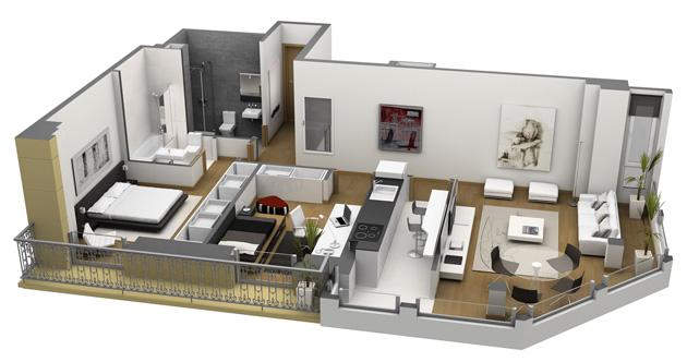 Ibaarreta promueve for Planos de casas de un piso en 3d